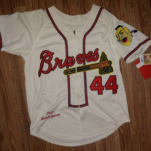 Mitchell & Ness Throwback Hank Aaron Jersey Small
